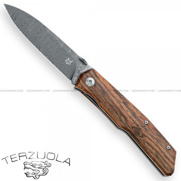 Coltello Damasco Fox Terzuola Bocote FX-525DB