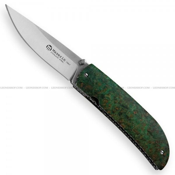 Maserin Atti Knife Green Burl 389/RV